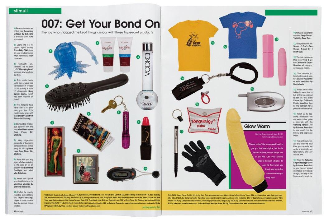 Разворот журнала Playgirl за 2007 год. Изображение № 17.