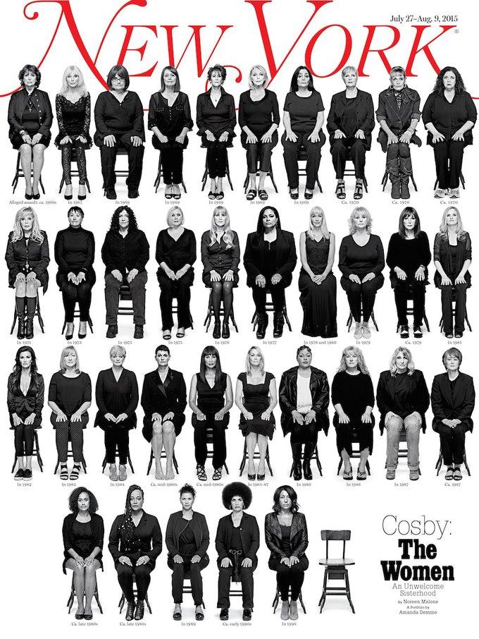 35 женщин, обвинивших Билла Косби в насилии,  на обложке NYMag. Изображение № 1.