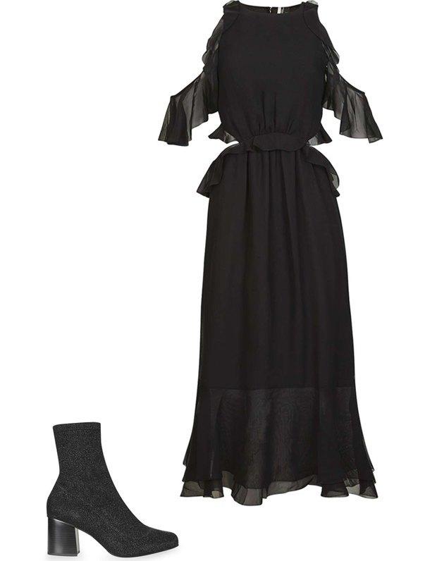 Комбо: Нарядное платье с ботильонами. Изображение № 2.