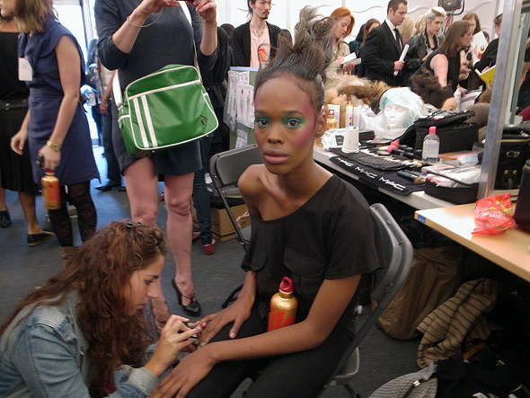 London Fashion Week: Репортаж с бэкстейджей House of Holland и Vivienne Westwood. Изображение № 34.