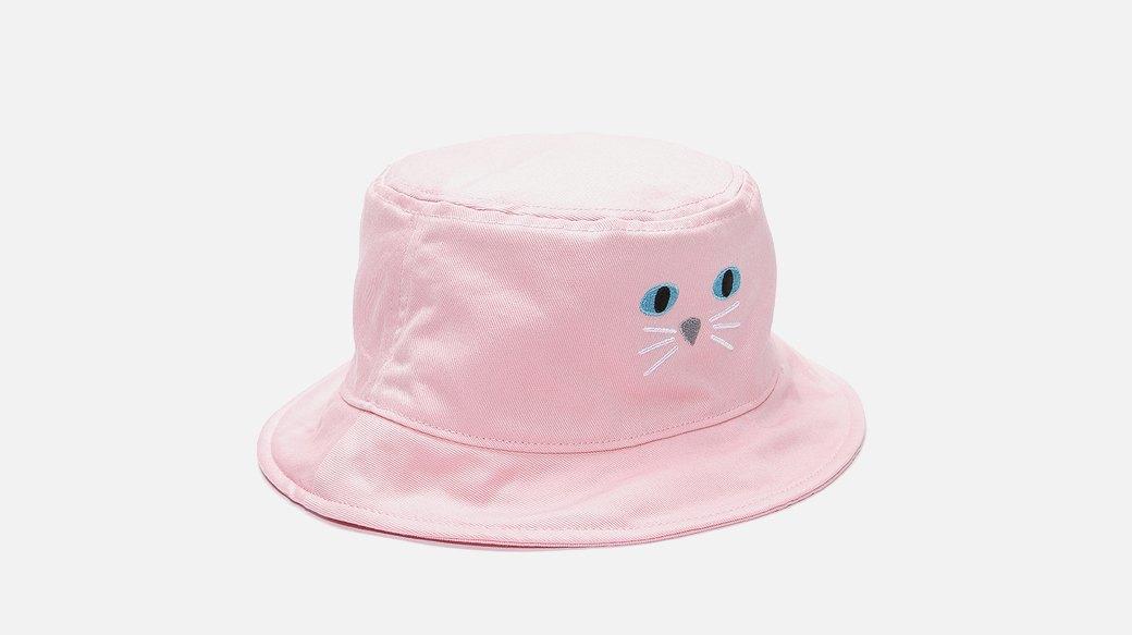 Праздник, который всегда  с тобой: Ироничная розовая панама с котом. Изображение № 1.