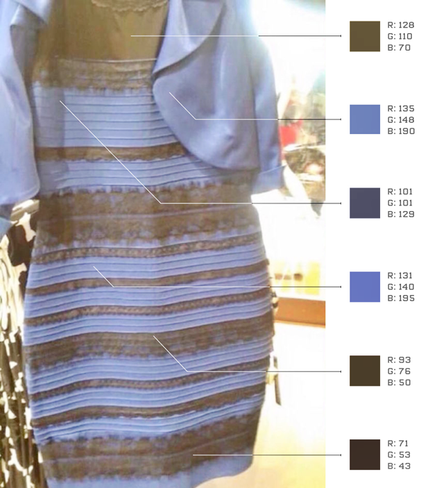Неврологи попытались объяснить феномен чёрно-синего платья. Изображение № 4.