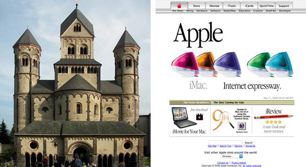 Аббатство Марии Лаах (1093) и Apple.com (2000). Изображение № 3.