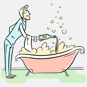 Можно ли принимать ванну с шампанским?