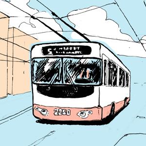 Есть вопрос: «Что будет, если троллейбус свернёт не туда?»