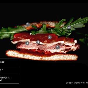 Составные части: сэндвич с ростбифом и моцареллой из бара «Белка» — Составные части на The Village