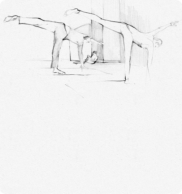 Клуб рисовальщиков: Йога — Клуб рисовальщиков на The Village
