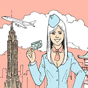 Есть вопрос: «Какие визы получают стюардессы?»