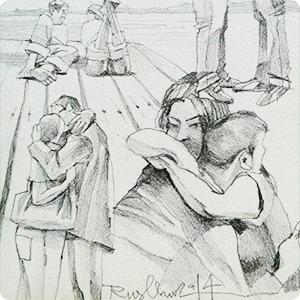 Влюблённые пары на улицах Москвы — Клуб рисовальщиков на The Village
