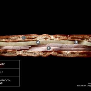 Составные части: «Роял флэт брэд» с индейкой из Dunkin' Donuts — Составные части на The Village