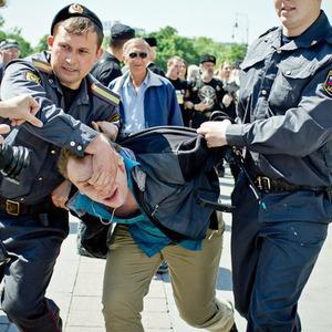 Сopwatch: Действия полиции на гей-параде на Манежной и Тверской площадях — Люди в городе на The Village