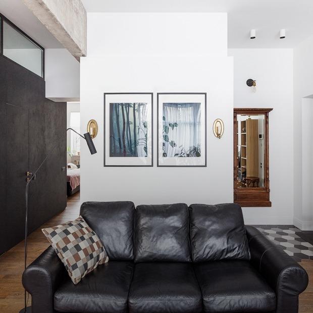Эклектичный интерьер с элементами лофта в сталинке на «Сходненской» — Квартира недели на The Village