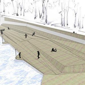 В парке Горького начали строить деревянный пляж — Парк Горького на The Village