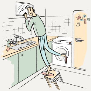 Зачем нужно окно между ванной и кухней?