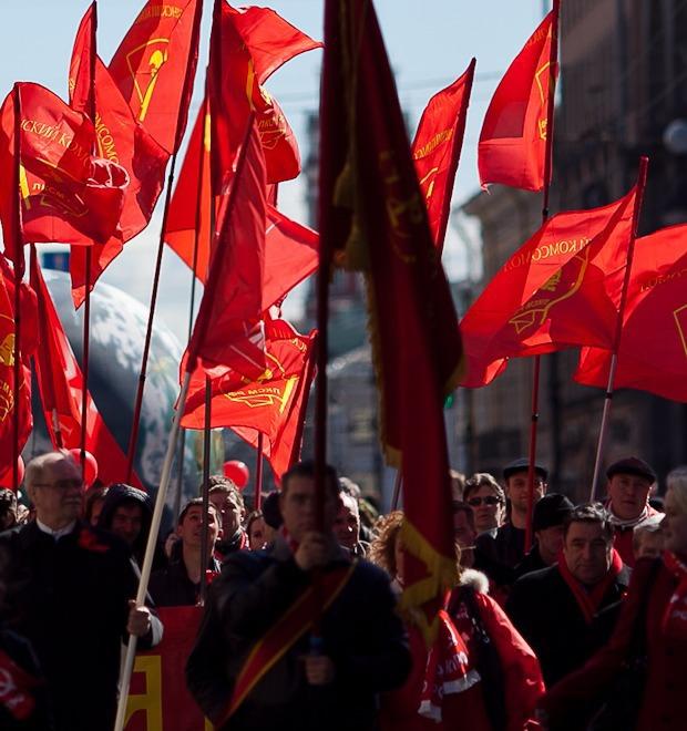 Фоторепортаж: Первомайская демонстрация — Фоторепортаж на The Village