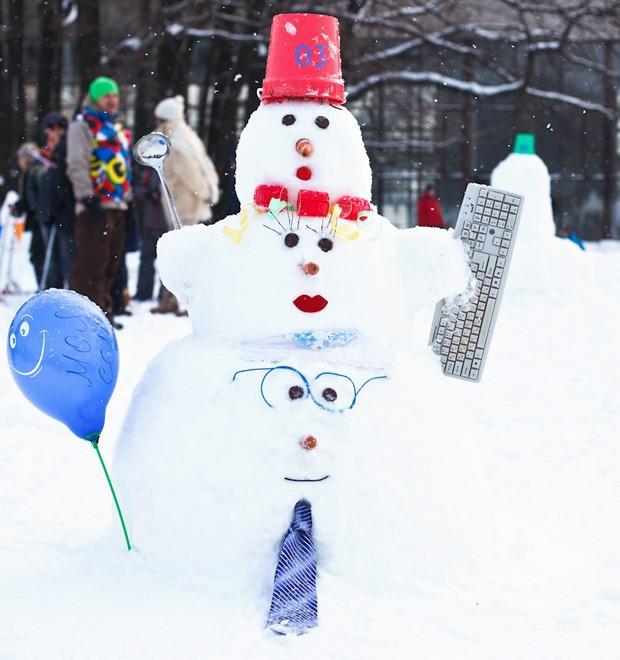 Люди в городе: «Арт-битва снеговиков» — Галереи на The Village