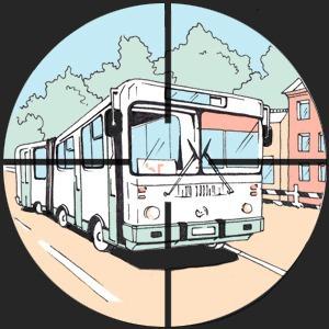 Есть вопрос: «Кто стреляет по автобусам и маршруткам?»