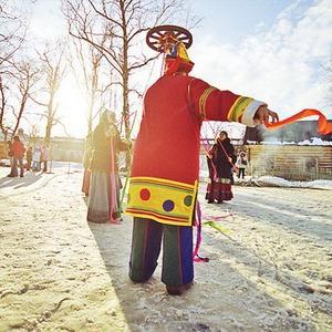 Масленица-перезагрузка: Гуляния в парке Горького