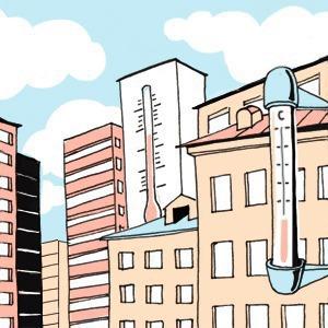 Есть вопрос: «Почему в разных районах Петербурга разная температура?»