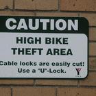 Всегда пристёгивайте ваш велосипед, особенно дома