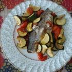 Сибас с овощами