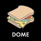Составные части: Cэндвич с курицей гриль и запечённым красным перцем из кафетерия Dome