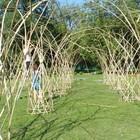 В парке Горького появилась бамбуковая беседка