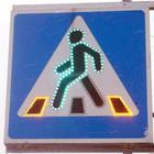 В Петербурге появились дорожные знаки со светодиодами