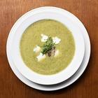 Рецепты шефов: Крем-суп из цукини и мяты с мясом утки и творожным сыром