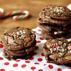 Шоколадное печенье с карамелью