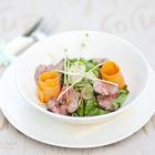 Рецепты шефов: Салат из свежих овощей с ростбифом