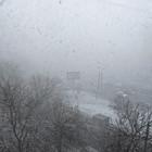 На севере Москвы прошла гроза во время снегопада