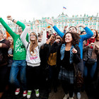 В Петербурге на Дворцовой площади танцевал Мэтт Хардинг