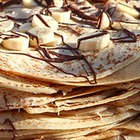 Огромный блинный пирог на площади у ЦУМа