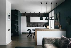 Двухкомнатная квартира с современным интерьером у Смольного