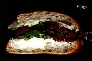 Составные части: Cэндвич с баклажаном, фетой и спаржей из Red Espresso Bar