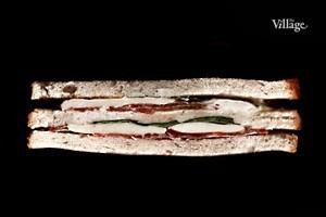 Составные части: Сэндвич с моцареллой из Osteria numero Uno