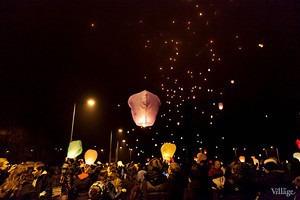 Фоторепортаж: Флешмоб с китайскими фонариками