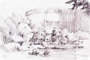 Клуб рисовальщиков: Екатерининский парк
