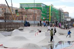 Скейтеры и BMX-ры — о новом парке у Дворца молодежи
