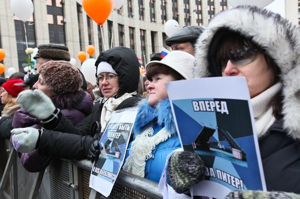 Митинг «За честные выборы» на проспекте Сахарова: Фоторепортаж, пожелания москвичей и соцопрос. Изображение № 42.