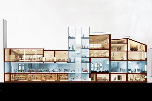 Европейский университет: 4 проекта реконструкции. Изображение № 7.