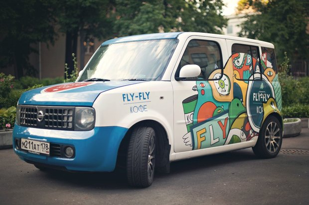 В Петербурге появилась мобильная кофейня Fly Fly. Изображение № 1.