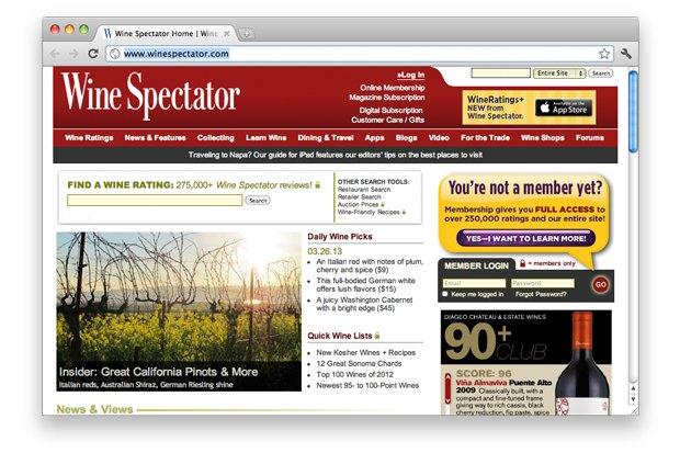 Американское издание Wine Spectator. Изображение № 2.
