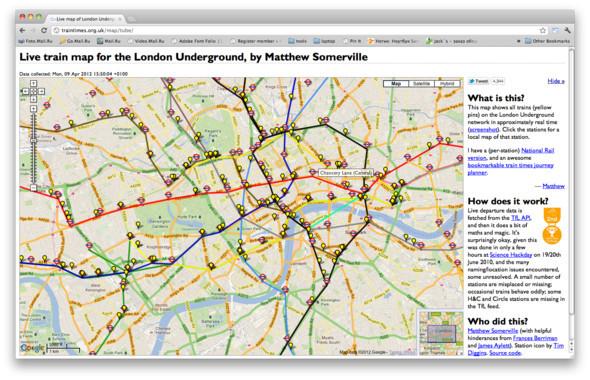 Онлайн-схема движения поездов в лондонском метро пока не нашла практического применения. Изображение № 23.
