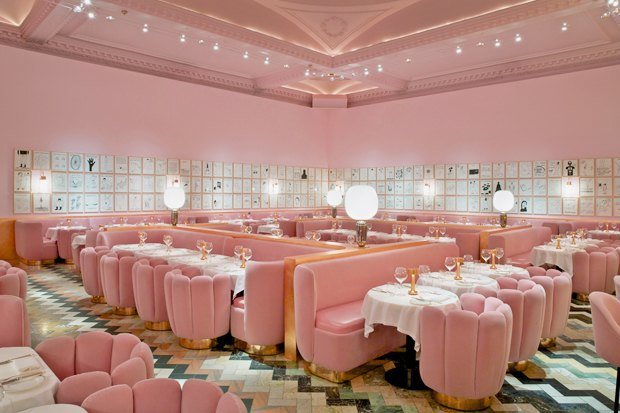 Лондонский ресторан Sketch периодически обновляется приглашённым художником. Этот вариант 2015 года сделал художник Дэвид Шрингли и дизайнер Индия Мадави.. Изображение № 6.