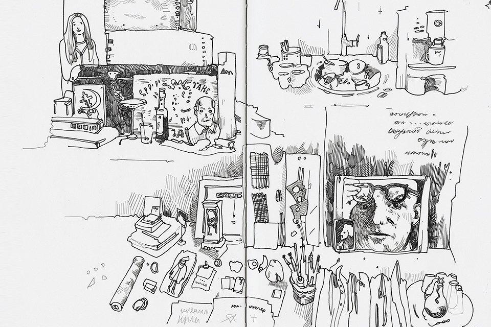 Московские офисы врисунках Лизы Смирновой. Изображение № 11.