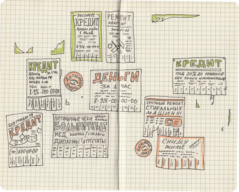Выставка «Москва вэскизах LAM Sketching Club» впарке «Музеон». Изображение № 12.
