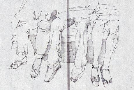 Выставка «Москва вэскизах LAM Sketching Club» впарке «Музеон». Изображение № 10.