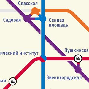 Карты на стол: 11 альтернативных схем петербургского метро. Изображение № 10.